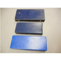 ASSORTED EMPTY BLUE HANDGUN BOXES