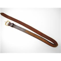 BROWN LEATHER .22 CAL AMMO BELT
