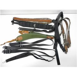 ASSORTED CANVAS/NYLONG RIFLE SLINGS