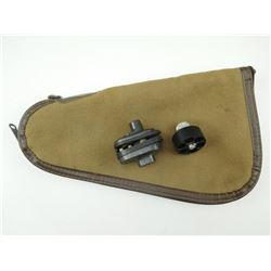 SOFT HANDGUN CASE, SPEED LOADER & TRIGGER LOCK