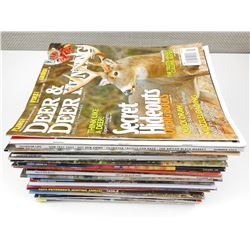 ASSORTED OUTDOORS & HUNTING MAGAZINES