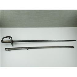BRITISH 1827 PATTERN RIFLE OFFICER'S SWORD WITH SCABBARD