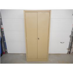 LOCKABLE DOUBLE DOOR STEEL CABINET WITH SHELVES