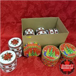 Box Lot:  Variety Christmas Tins (20)