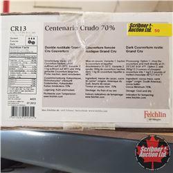 CHOICE OF 6 BOXES: Chocolate - Felchlin : Centenario Crudo 70% Dark Couverture Rustic Grand Cru (1 B