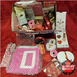Box Lot: Valentine's Theme (Moulds, Packaging, Ribbon, Gift Bags, Truffle Cups, Cupcake Boxes, etc)