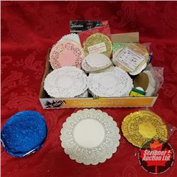 Tray Lot: Variety Paper Doilies