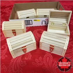 CHOICE OF 4 Tray Lots: Variety Wooden Craft Boxes