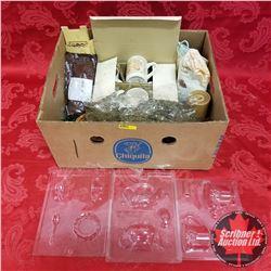 "Box Lot: Tea Party Theme (Cargo & James Tea ""Herbal Peppermint"", Cherished Teddies Coffee Cups, Teap"