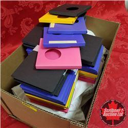 "Box Lot: Packaging 5"" x 5"" x 1/2"" (Purple, Yellow, Pink, Green, Black)"