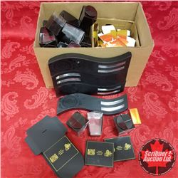 Box Lot - Packaging: Black & Gold Color - Variety Styles / Shapes