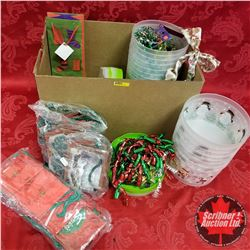 Box Lot - Christmas : Containers, Bows & Bags