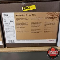 CHOICE OF 4 BOXES: Chocolate - Felchlin : Maracaibo Crème 33% Couverture Grand Cru with Swiss Milk i