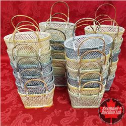 "Box Lot : Pastel Baskets (24) 8-1/2"" x 5"""