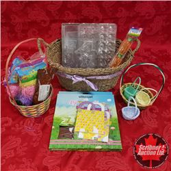 Seagrass Basket Lot: Easter Theme (Moulds, Packaging, Baskets, Basket Grass, Felchlin Chocolate, etc