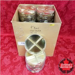 "Packaging (80) : 9"" Round Clear Acetate (4 Section) 4-1/2"" x 6-1/2"""
