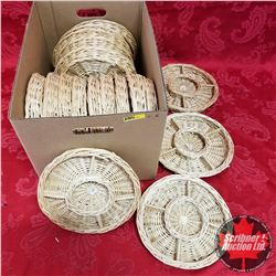 "CHOICE OF 3 Boxes : 10"" Wicker Trays - 5 Section (18 Trays per Box)"