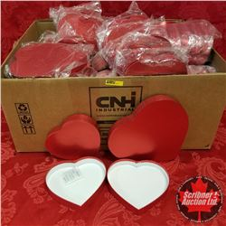 Box Lot - Heart Boxes: 35 Large & 23 Small