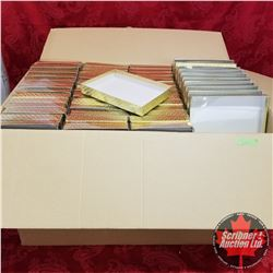 """CHOICE OF 2 Box Lots : Packaging Clear Top/Gold Bottom 9"""" x 6-1/2"""" x 1-3/16"""" (125 Per Box)"""