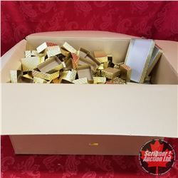 """Packaging : (32) Clear Top/Gold Bottom 9"""" x 6-1/2"""" x 1-3/16"""" AND Large Group of Small Gold Bottom 4"""""""