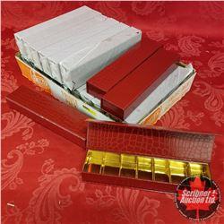 "Packaging : (20) Red Faux Reptile Motif 10"" x 2-1/2"" x 1-1/2"""