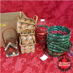 Box Lot: Assorted Baskets (15) Variety Christmas Theme