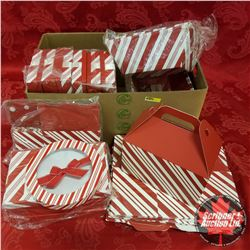 Packaging : Assorted Red & White Stripe