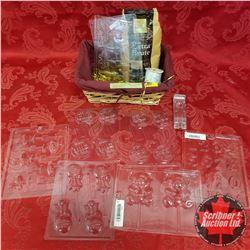 Basket Lot: Gender Reveal Moulds & Bag Cocoa & Ribbon