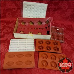 Tray Lot: Rubber Moulds & Matting