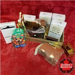 Teddy Bear Tins & Small Brown/Gold Boxes
