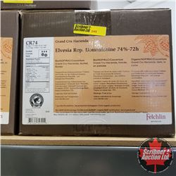 CHOICE OF 3 BOXES: Chocolate - Felchlin : Elvesia Rep. Dominicaine 74%-72h Grand Cru Hacienda, dark,