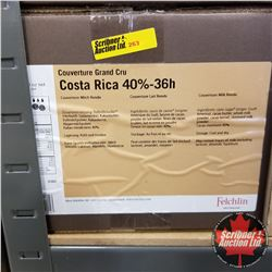 CHOICE OF 2 BOXES: Chocolate - Felchlin : Costa Rica 40%-36h Couverture Milk Rondo (1 Box = 6kg)