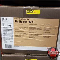 CHOICE OF 2 BOXES: Chocolate - Felchlin : Rio Huimbi 42% Couverture Milk Rondo (1 Box = 6kg)