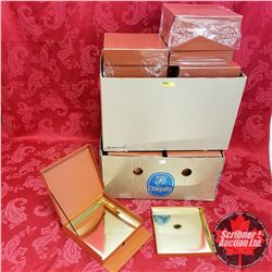 """Packaging: 30 Terracotta Color Boxes (Gold Interior 2 Layer Drawer) 8-1/2"""" x 8-1/2"""" x 2"""""""