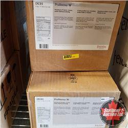 Filler Felchlin - 3 Boxes - Pralinosa W Hazelnut Praline Cream, Soft Ready to Use (1 Box = 5kgs)
