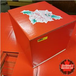 """Packaging - 10"""" x 10"""" x 8"""" Red Christmas Boxes (80)"""