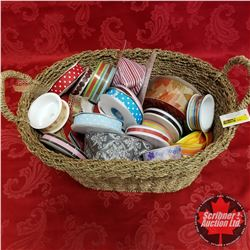 CHOICE OF 2 Seagrass Basket Lots: Large Variety of Ribbon