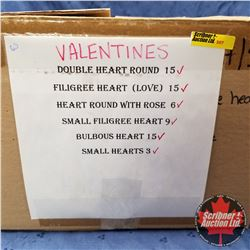 CHOICE OF 20 BOXES: MOULDS - VARIETY (63) Valentines