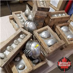 Large Amazing Group of Antique Egg Moulds - Variety Sizes & Shapes !