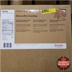 Filler Felchlin - 1 Box : Maracaibo Gianduja Grand Cru Gianduja Dark w/Macadamia (1 Box = 5kgs)