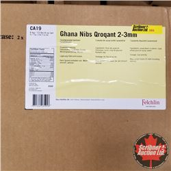 Filler Felchlin - 1 Box : Ghana Nibs Qroqant 2-3mm Cacaonibs Roasted Caramelized (1 Box = 6kgs)