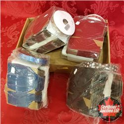 Packaging: Ribbon & Matching Boxes (4 Groups) 2 Red, 1 Brown, 1 Blue