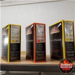 E. Guittard 3 Boxes (5kg per Box): La Premiere Etoile 58%; Lever du Soleil 61%; La Nuit Noire 55%