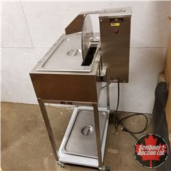 """Design & Realization Stainless Steel Wheel Chocolate Tempering Machine on Rolling Stand (47""""H x 26""""W"""