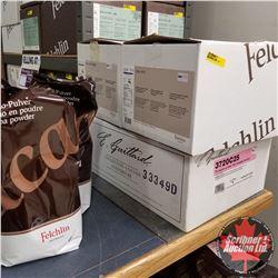 Chocolate & Coca Group: 1 Box 11kg E. Guittard 72% Dark Chocolate Couverture ; 1 Box 7.5kg Felchlin