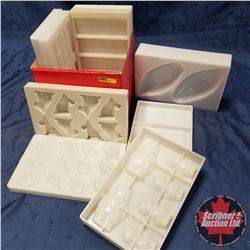 CHOICE OF 3 BOX LOTS: Hard Plastic Moulds (9)