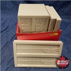 CHOICE OF 3 BOX LOTS: Hard Plastic Moulds (10)