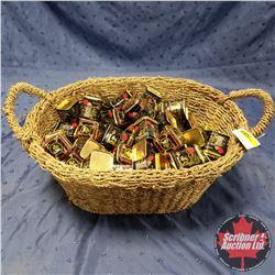 "Seagrass Basket Lot: Small Tea Tins (76) 2""x2""x2-1/2"""