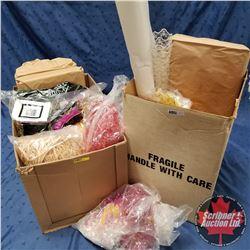 Box Lot: Large Group of Basket Stuffing + Mini Cornets, etc !