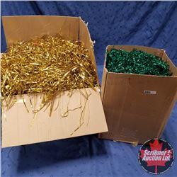 2 Boxes : Tinsel (1 Gold 1 Green)